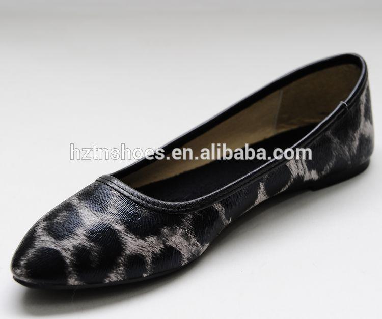 Latest Design Flat Shoes Leopard Printed Women Fashion ...