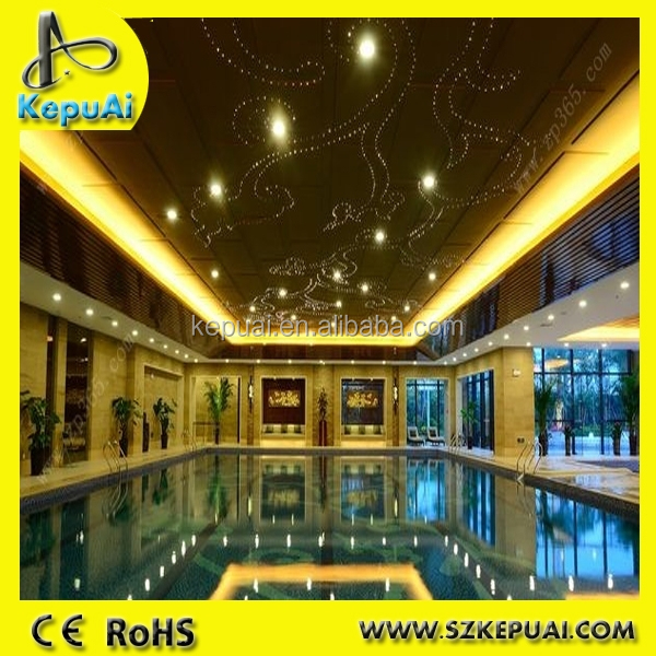 swimming pool plastic ceiling optic fiber light