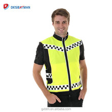 Wholesale Personalized EN1150 Reflective Hi-Vis Pink Horse Riding Gear Safety Vest Waistcoat With Front Zip