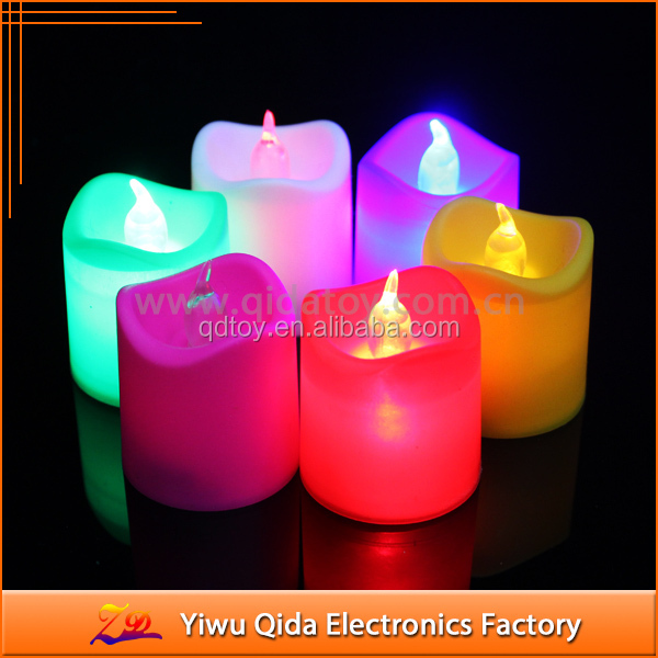 remote control multi color flameless candle