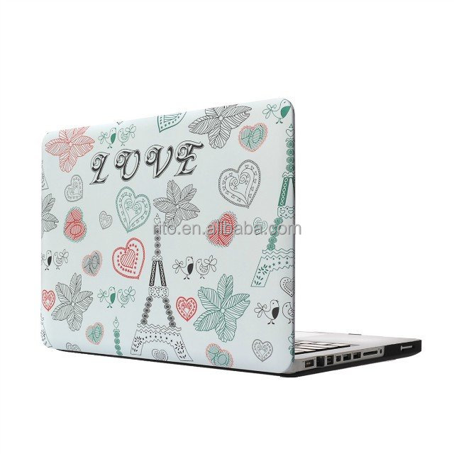 New Designed Leaf and Bird Pattern Hard Plastic Case for Laptop Macbook pro 13