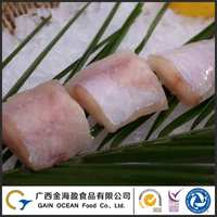 Low price cheap seafood product frozen fish block from monkfish