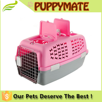 New Design Dog Carrier Portable Pet Cage Plastic Travel Pet Cage