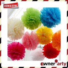 Top Sale Party Decoration Colorful Tissue Paper Flower Decorations