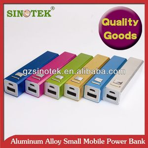 SINOTEK 2600mah tube power bank external+charger+battery