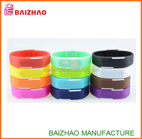 new cheap whosale silicone led wrist watch , silicone wristband watch, fashion wrist led bracelet watch