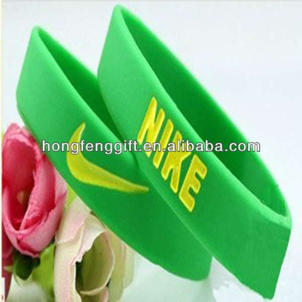 Hot Sell High Quality Custom Silicon Wristband For Nike