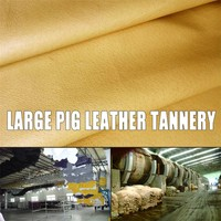 plain pig grain leather for shoes pig leather full grain Pig lining leather Genuine