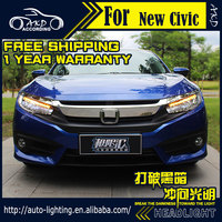 AKD Car Styling for Honda Civic LED Headlight 2015-2016 LED Head Lamp Projector Bi Xenon Hid H7