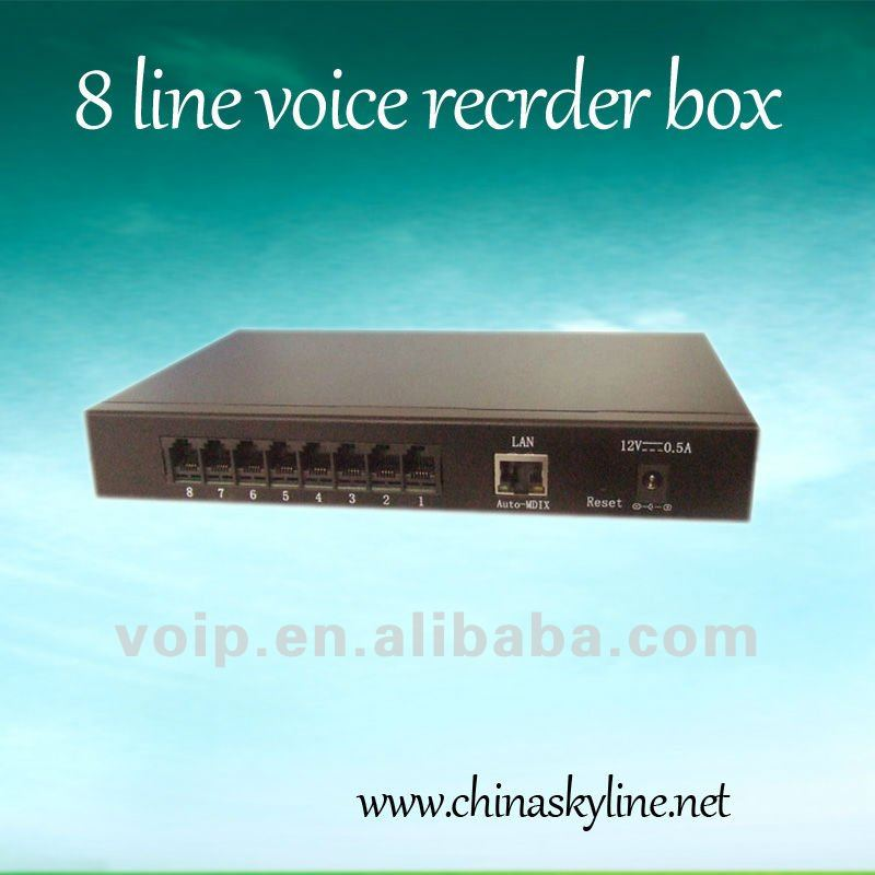 HOT!8 line voice recorder box TYH636 voice logger