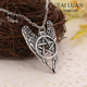 Movie jewelry supernature wing and pentagram star necklace