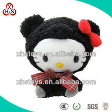 Custom Singing Moving Black Plush Cat