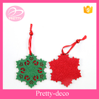 Factory directly supplier polyester Christmas snowflake decoration for Christmas tree