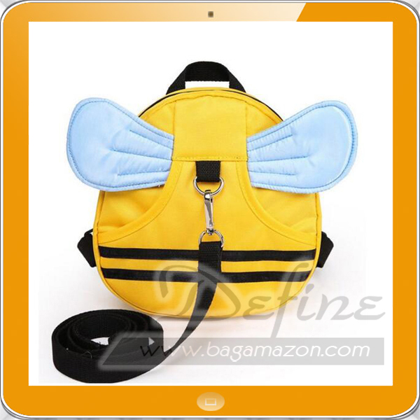 Girls Boys Travel Bag Cartoon Bee Backpack for Kids with Leash