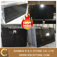 chinese natural stone black granite polished floor tile for sale