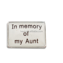 In memory of my Aunt floating charms for locket