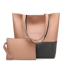 Fashion bags cases 2 pieces bucket color combination messenger bags totes bags cheap
