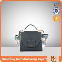 4115 Trendy Design PU Material Fancy Side Decoration Ladies Daily Satchel Bag