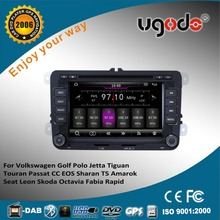 ugode wince 6.0 system 7 inch 2 din dvd gps for VW Tiguan 2007 2008 2009 2010 2011 2012