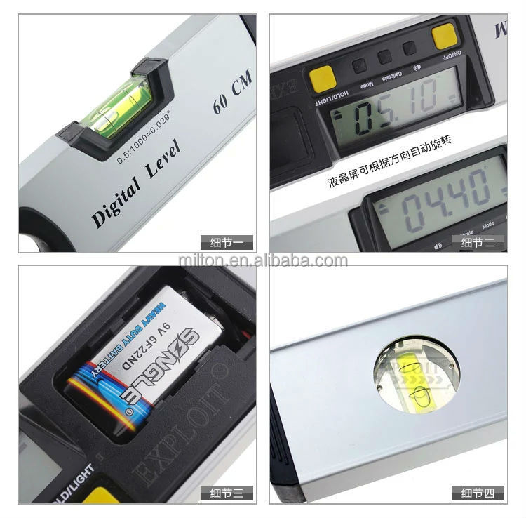 600mm Digital Laser Level 24inch Protractor Inclinometer digital level with Laser Beam