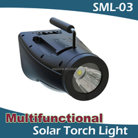 Factory Patent Multifunctional Portable Solar Led Torch Light