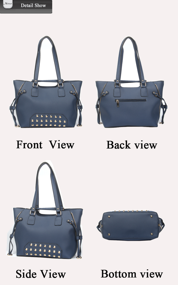 8646- Top quality genuine leather lady handbag hot selling leather women handbag lady faux leather handbag