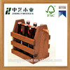 High grade raw materials unique design wooden beer bottle carrier holder