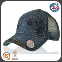 worn out washed cotton mesh hat fashion summer visor