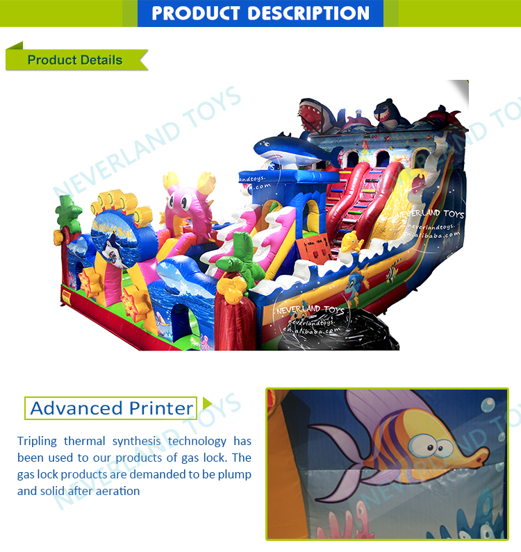 NEVERLAND TOYS Inflatable Combos bounce house with slide and pool