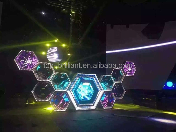 Pixel Pitch 5mm P5 LED DISPLAY/night club 2015 Hot sell full color led display screen video DJ booth