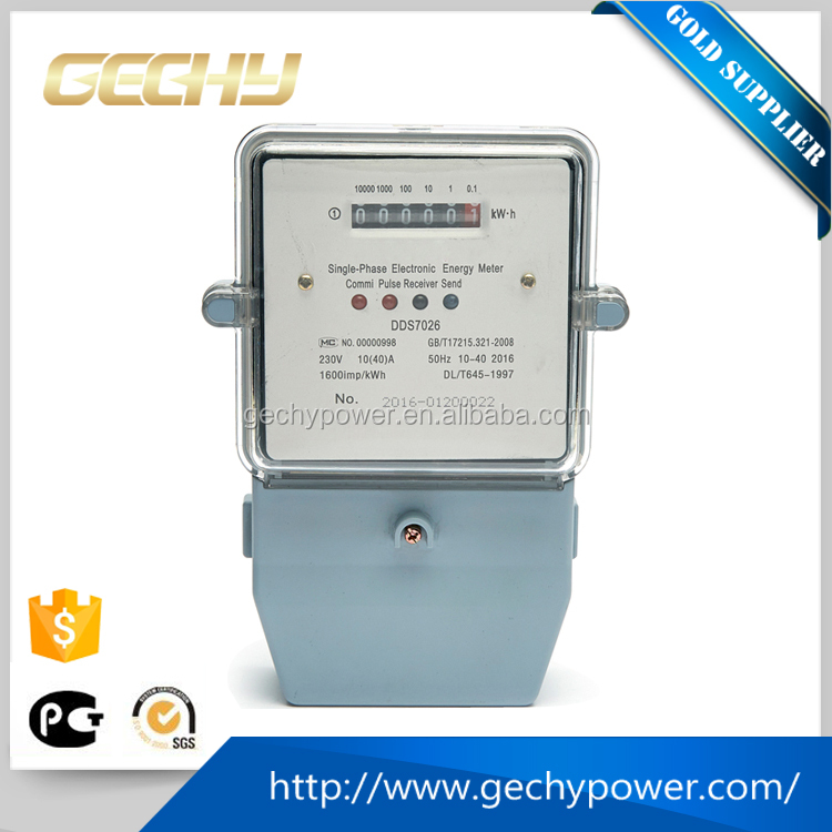 Single phase Electricity Electric Energy watt-hour Meter/Electronic Energy Meter