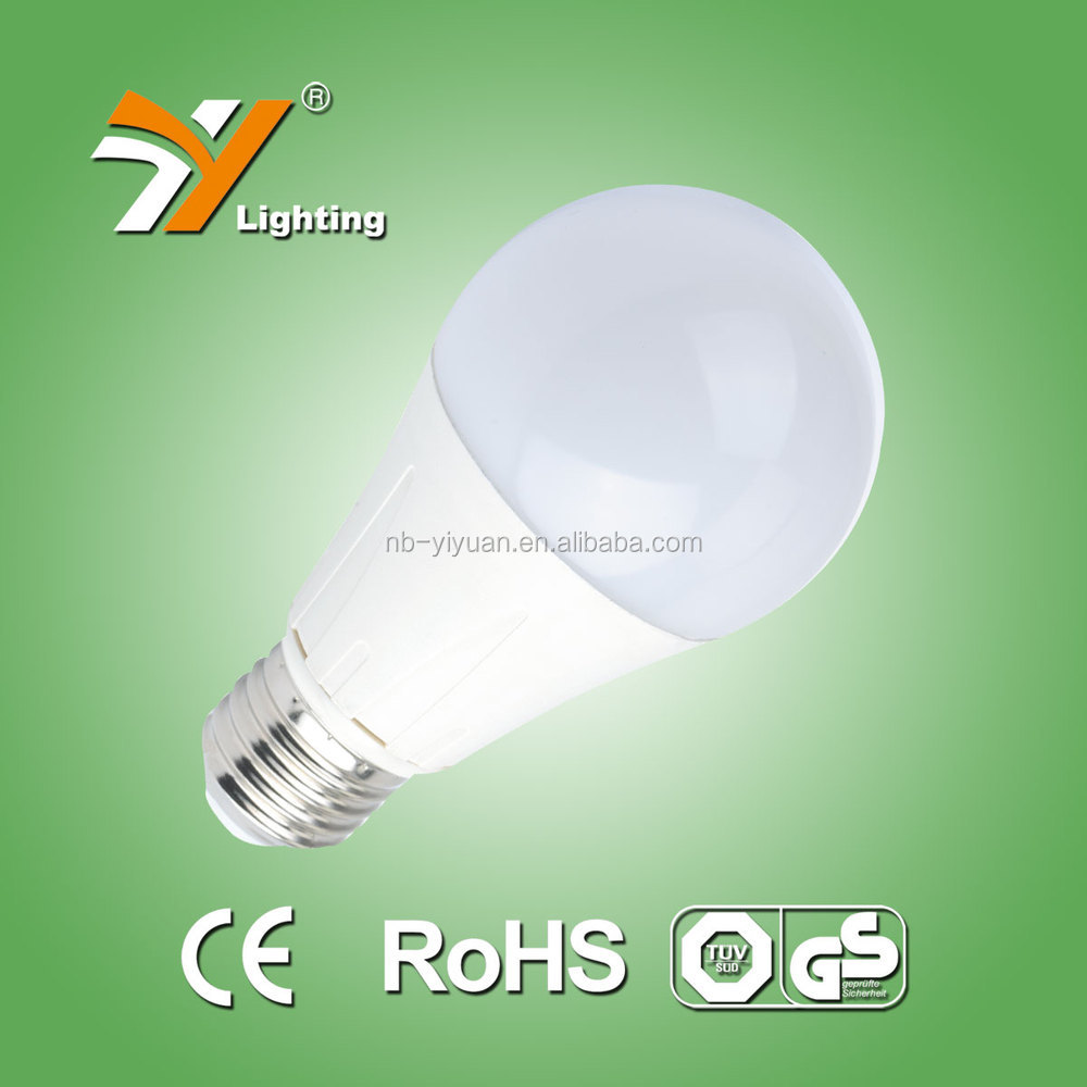 Hot Sale TUV-GS, CE, RoHS Approved Die-casting aluminium Thermal Plastic B60AP 10W 806LM LED Lighting Bulb