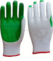rubber coated cotton glove/led work gloves