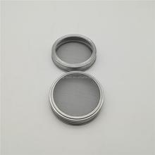 Stainless Steel Sprouting Lid and Band for Wide Mouth Mason Canning Jars for Making Sprout Seeds in Your House