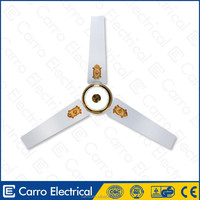 "High efficiency electric 56"" 12V battery solar dc ceiling fan with led light remote control factory DC-12056-C"