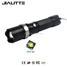 Jialitte F038 Adjustable Focus High Powered CREEs XPE Q5 LED Handheld Flashlight Rechargeable - Portable Outdoor Water