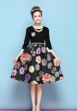 Floral dated dress C081