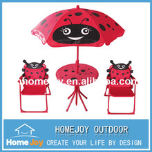 Hot selling cartoon design kids patio chairs and table