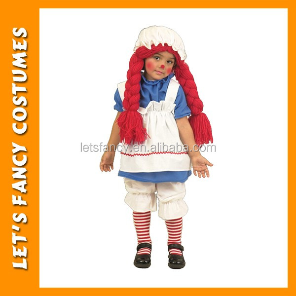 Simple cosplay little girl rag dolls halloween costumes PGCC3128