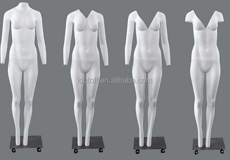 Brand new V-cut invisible female ghost mannequin