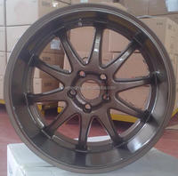 deep lip 18x8/18x9 bronze aluminum alloy wheel rim with pcd 5x100/114.3