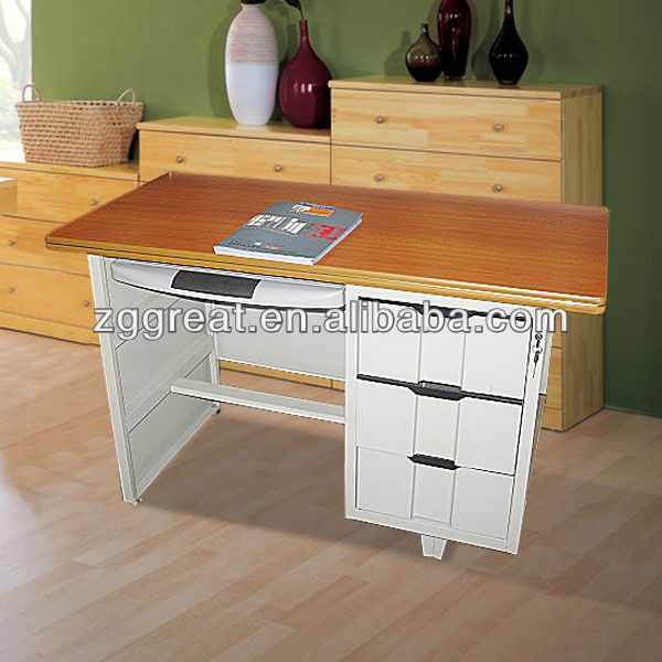 indian wooden writing desk/ metal roll top computer desk