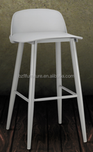 PP seat modern plastic bar chairs bar stools