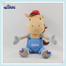 promotional mascot plush toy sitting horse stuffed animals toy