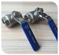 "2"" Female NPT 316 Stainless Steel Full Port Ball Valve Vinyl Handle"