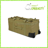 large tactical style military trolley bag