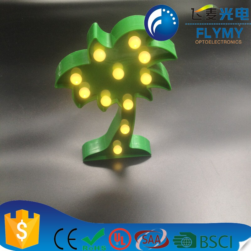 2017 best selling product Cocount Tree for indoor decoration modify lights