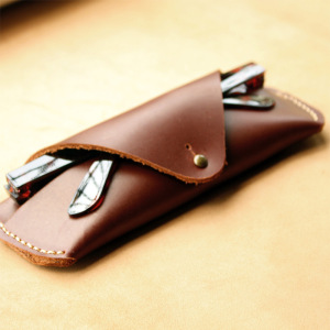 hot sell classic soft genuine leather envelope sunglass case/ eyeglass pouch/ glasses bag
