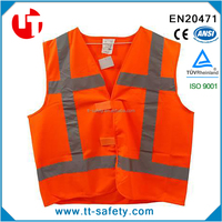 100% polyester reflective high visibility safety waiscoat