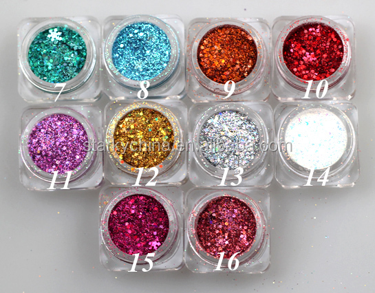 Nail Glitter Acrylic Powder Dust Decoration For Nail Beauty